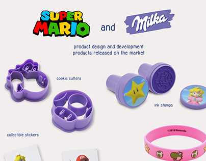 Super Mario and Milka promotional items