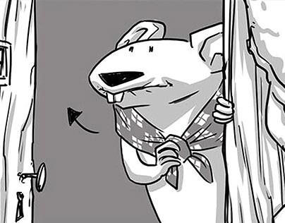 "Storyboard for animated short ""A Cada Dia Que Passa"""