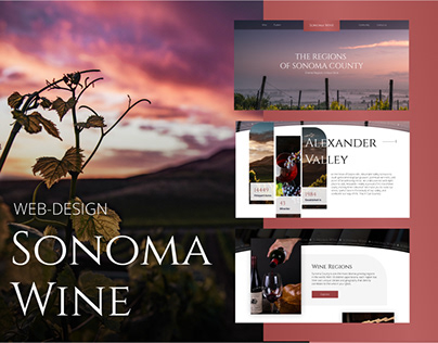 Website redesign concept / Sonoma wine