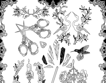 Tattoo Sticker Flash Sheet