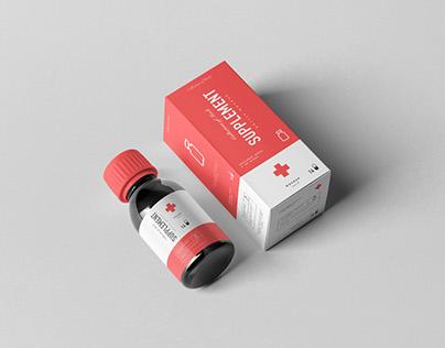 Supplement Bottle & Box Mock-up 2