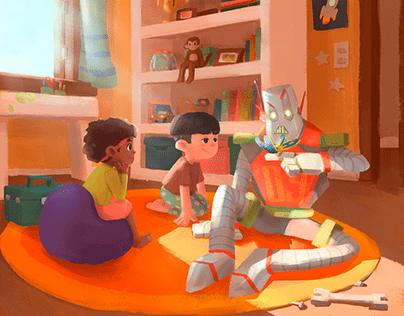Robôs e borboletas