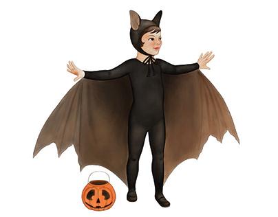 Halloween and Fall seasonal illustrations