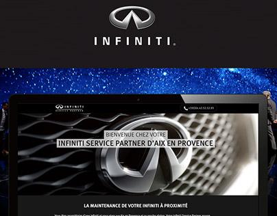 Infiniti - Landing page
