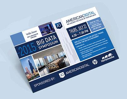 Postcard Invitation for Data Symposium