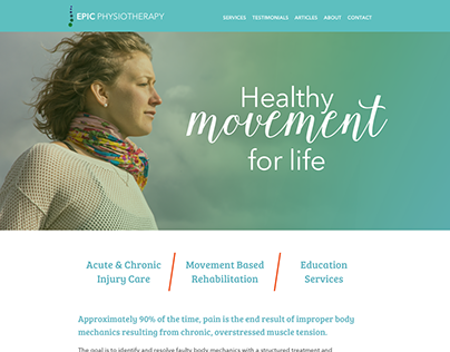 Epic Physiotherapy Website