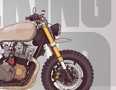 The Walking Dead - Daryl's Bike Honda Cb750 Nighthawk