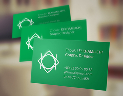 Flying business Card V2 - Free PSD Mockup