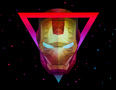 Low Poly Art - Ironman Collection