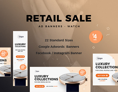 Retail Sale Web Ad Banners - Watch