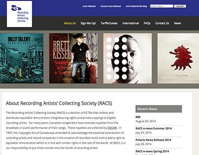 Actra RACS Website