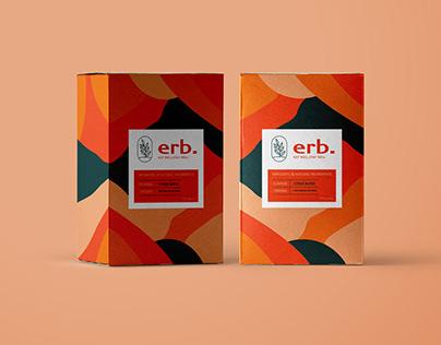 Branding designs for Erb. - tea brand.