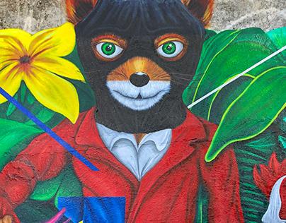 Fantastic Mr Fox Mural