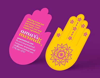 Amar's Mehndi Branding