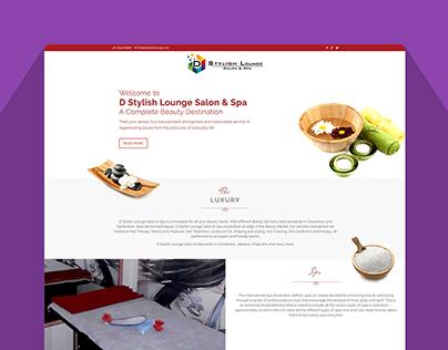 UI Design for D Stylish Lounge