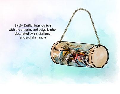Tube bag design and illustration