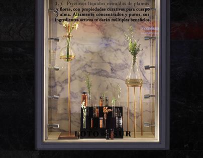 Vitrina Aromacología LOTO del SUR