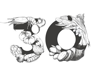 30 Anniversary logotype