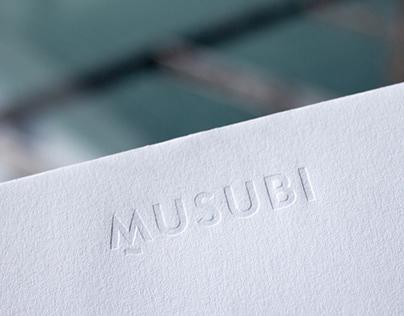 MUSUBI logo & stationery