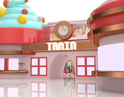 Ice Cream Train Station- Sweet land