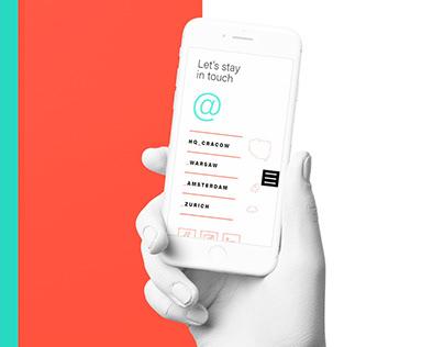 Website design for Admind Branding & Communications