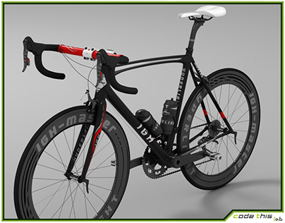 3D Model: Racing Bicycle Animated HQ 002