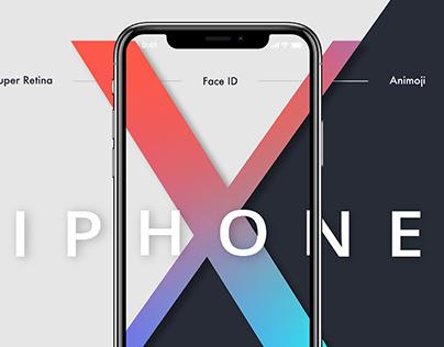 iPhone X Webpage prototype