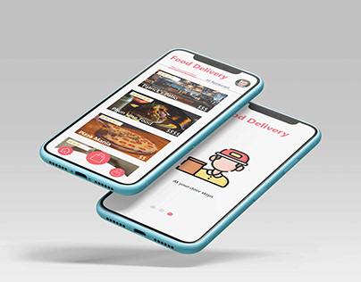 New concept of Food Delivery App 2021