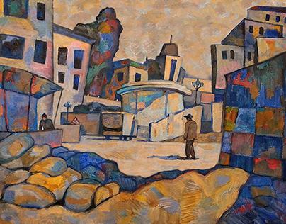 Backstreet. Animated painting