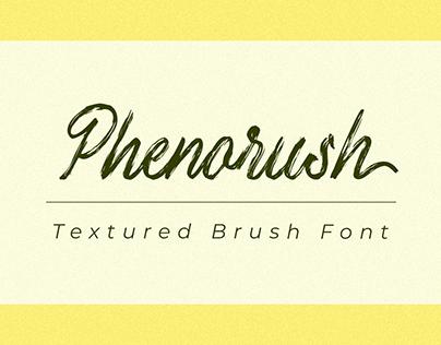 Phenorush - Textured Brush Font