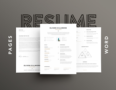 Unique Resume CV Template | Pages Word