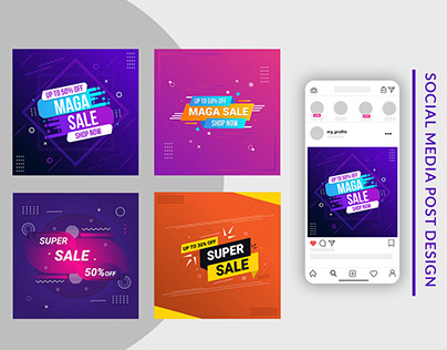 Social Media Banner,Abstract colorful sale banner
