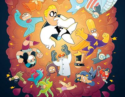 Ilustracije superjunaka Amnezije