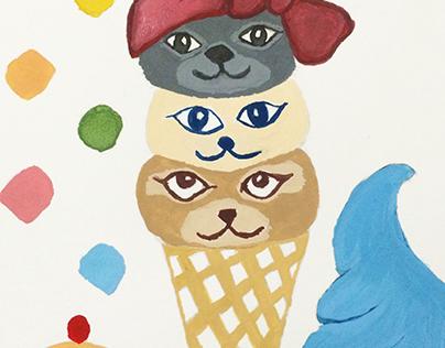 Cat - Ice Cream.