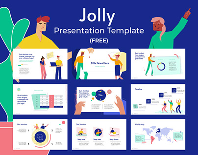 FREE - Jolly - Presentation Template - Illustrated