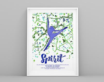 "Poster Dansvoorstelling ""Spirit"""