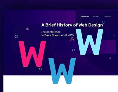 Header site conférence Dave shea — Worshop IOlce 2017
