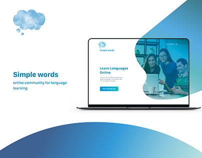 Landing page - Simple words