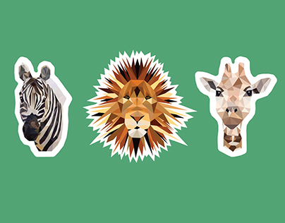 Safari Animal Stickers
