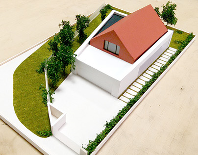 Architectural model - single house in Poznan / Poland