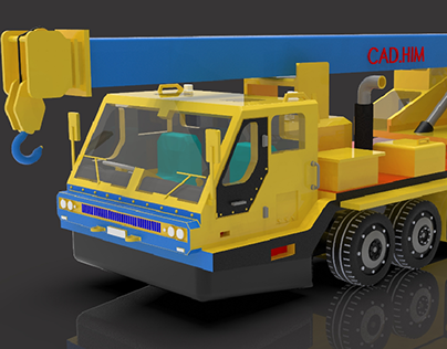 Heavy Crane Vehicle