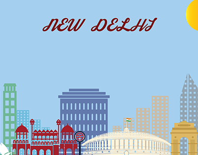New Delhi Illustration
