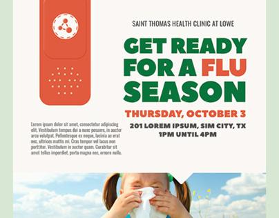 Flu Shot Flyer Templates