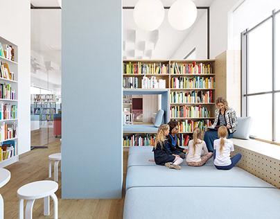Children's Library / Привітна бібліотека