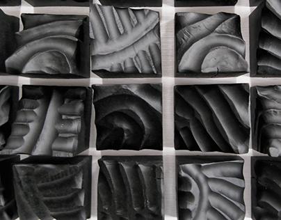 Wall sculpture Frozen (2017)