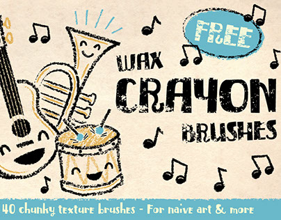 FREE Crayon Brushes