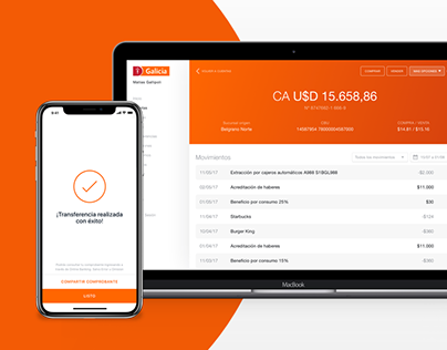 Banco Galicia Web App Design & Product Thinking