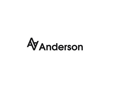 Three logo options for a Clothing brand AA Anderson