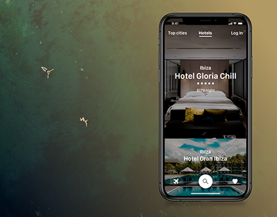 Hotels - iPhone app design concept