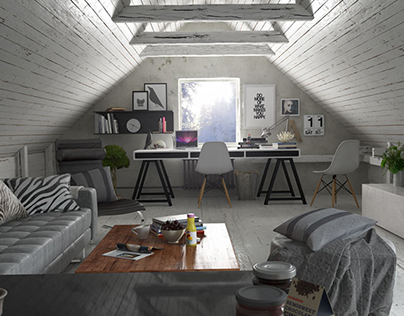 Project : Loft Visualisation, Stockholm Sweden